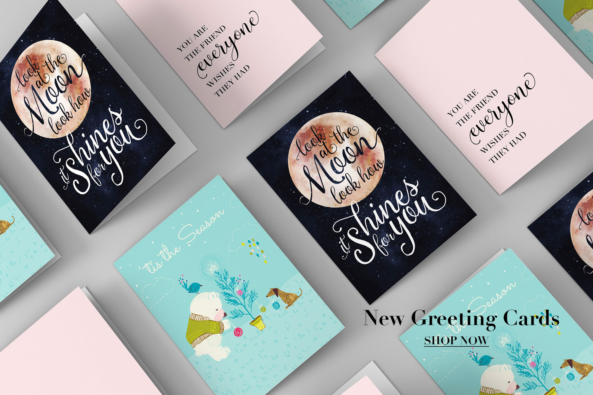 hand illustrated greeting cards