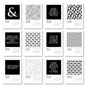 black-and-white-wall-calendar
