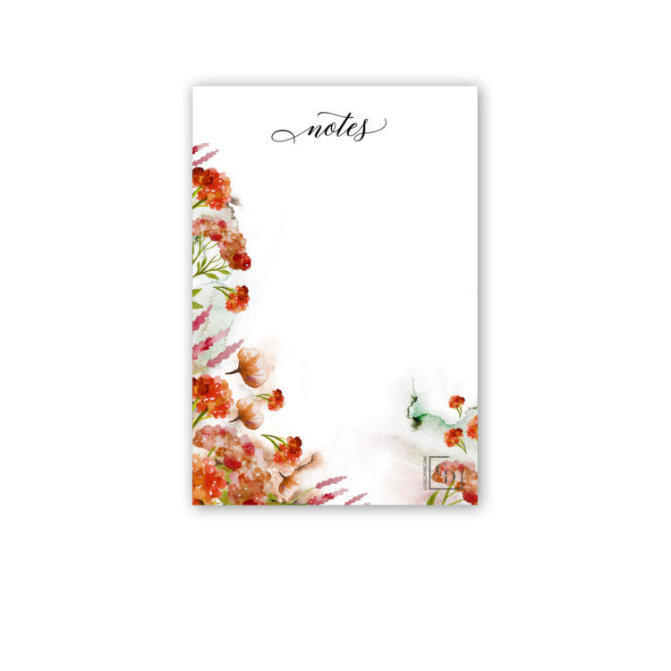 Moon Forest 4x6 Blank Notepad