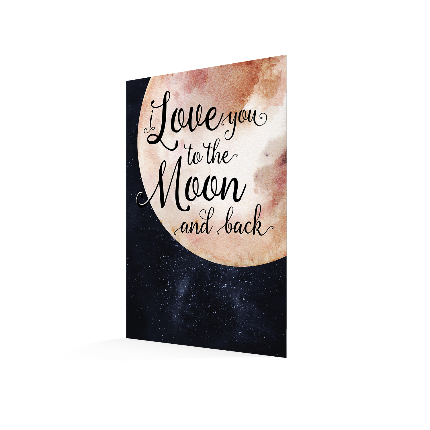 love you to the moon card