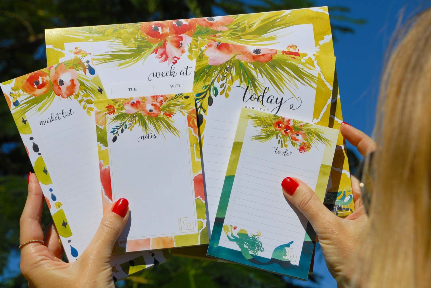 notepads-floral