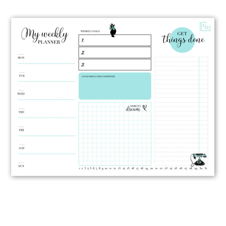 New York 8.5×11 Weekly Planner Notepad
