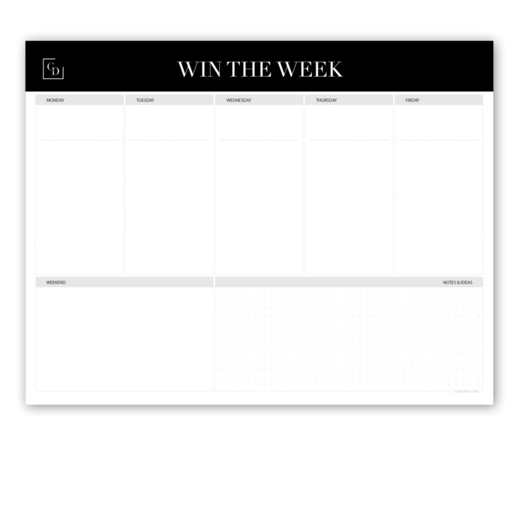 Classic 8.5×11 Weekly Planner Notepad